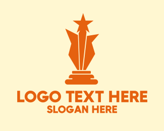 Recognition - Orange Star Award  logo design