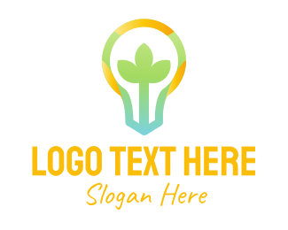 Bulb - Colorful Plant Bulb logo design