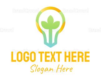 Bulb - Colorful Plant Bulb logo design