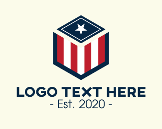 Patriot - Patriotic Hexagon Shield logo design