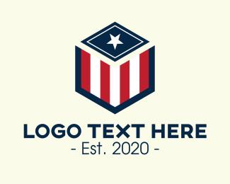 Patriotism - Patriotic Hexagon Shield logo design