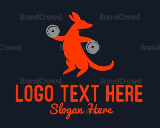 Protein Shake - Strong Kangaroo logo design