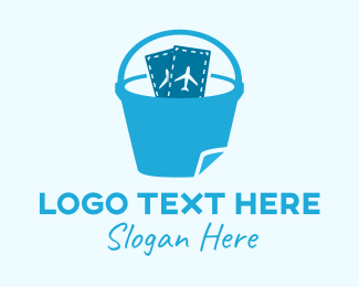 Bucket - Travel Bucket List logo design