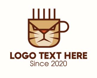 Caracal - Coffee Cat logo design