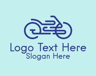 Bike Race - Minimalist Bike Shop  logo design