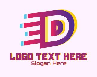 Speedy - Speedy Letter D Motion logo design