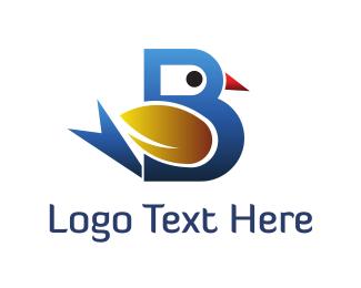 Letter B - Bird Letter B logo design