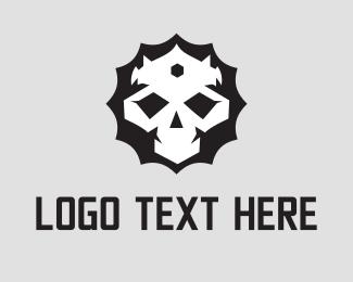 Frankenstein - King Skull logo design