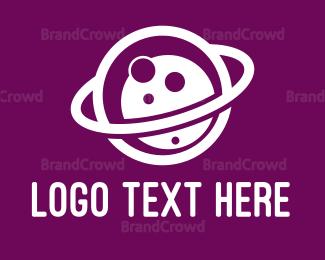 White - White Planet logo design