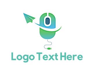 Click - Click  Message logo design