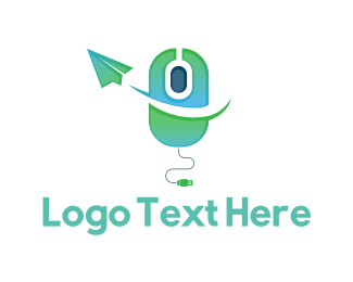 Send - Click  Message logo design