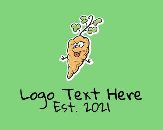 Radish - Cartoon Carrot Veggie logo design