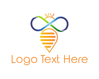 Abstract Infinity Bee Logo