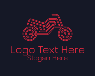 Big Bike - Motorcycle Racer Bike logo design