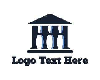 Bowling - Greek Bowling  logo design