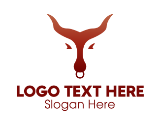 Brown Bull - Minimalist  Brown Bull logo design