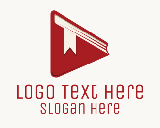Literacy - Book Play Button logo design
