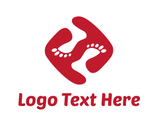 Feet - Funky Feet logo design