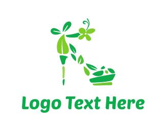 Glamour - Eco Shoe logo design