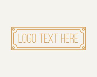 Legend - Golden Wordmark Badge logo design