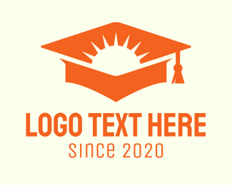 Graduation - Orange Sunny School Graduation logo design