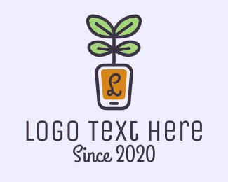 Pot Plant - Gadget Pot Plant Letter logo design