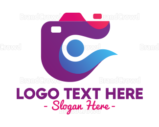 Camera Rental - Stylish Abstract Camera logo design