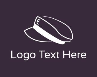 Pilot - Letter E Cap logo design