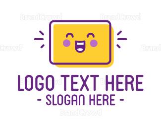 Purple And Yellow - Happy Cute Box logo design