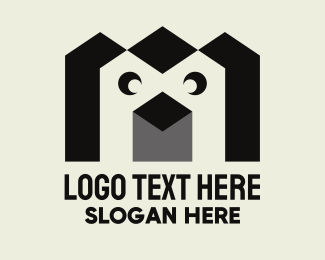 Zoo Animal - Geometric Penguin logo design
