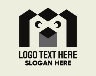 Penguin - Geometric Penguin logo design