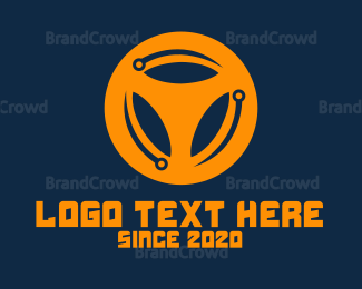 Commute - Black Wheel logo design