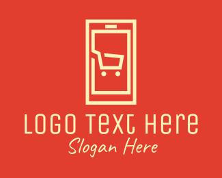 Add To Cart - Mobile Shopping Cart logo design