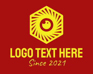 """""""Yellow Hexagon Camera"""" by novita007"""
