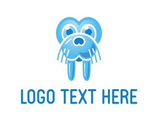 Tusk - Blue Walrus logo design