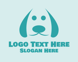 Cute Dog Veterinary Logo