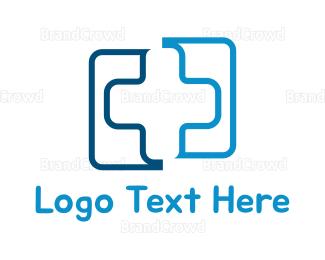 Hospital - Blue Hospital Cross logo design