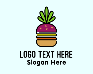 Onion - Beet Burger Vegan Restaurant  logo design