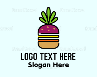 Bread - Beet Burger logo design