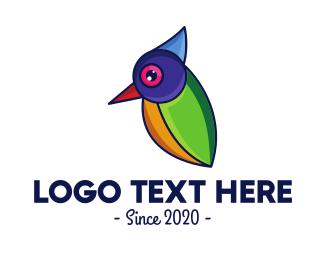 Natural Reserve - Minimalist Sparrow Outline logo design