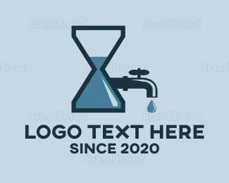 Drinking Water - Plumbing Time logo design