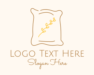 Brown Pillow Line Art Logo