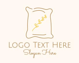 Line Art - Brown Pillow Line Art logo design