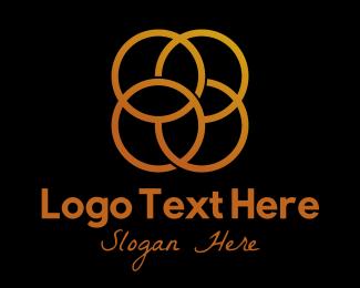 Metal - Golden Circles logo design