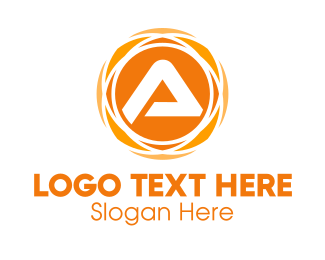 Business - Orange Sun Tech Letter A logo design