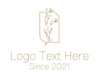 Linework - Minimalist Golden Flower logo design