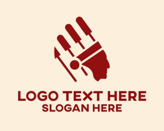 Native American - Musical Indian American  logo design