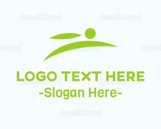 Jump - Minimalist Green Rabbit logo design
