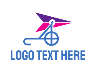 Glider - Blue Purple Glider logo design