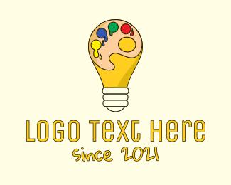 Paint - Bulb Paint Palette logo design